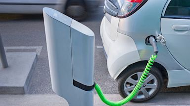 PHOTO: electric car, charging station