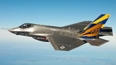 PHOTO: In this image released by the U.S. Navy courtesy of Lockheed Martin, the U.S. Navy variant of the F-35 Joint Strike Fighter, the F-35C, conducts a test flight, Feb. 11, 2011, over the Chesapeake Bay.