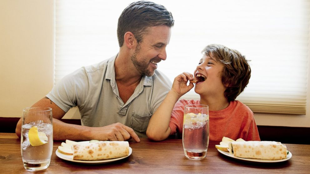 PHOTO: A father is pictured with his son in this stock image.