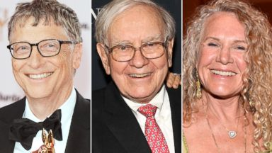 PHOTO: Bill Gates, Warren Buffet and Christy Walten made Forbes list of top billionaires.