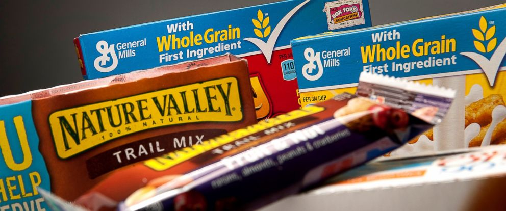 PHOTO: General Mills Inc. products are arranged for a photograph in New York, June 25, 2012.