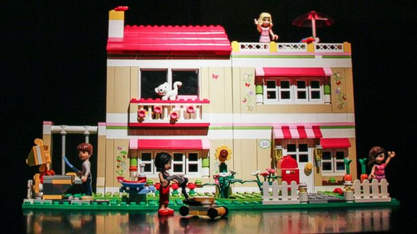 "PHOTO: A model house and figures from the Lego ""Friends"" range for young girls."