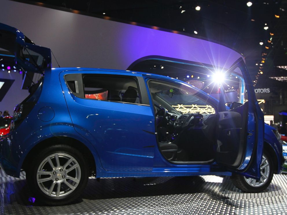 PHOTO: A Chevrolet Sonic is displayed during the 27th Sao Paulo International Motor Show at Anhembi Exhibition Center, Oct. 26, 2012, in Sao Paulo.