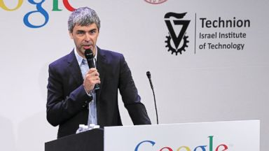 PHOTO: Google co-founder and CEO Larry Page speaks during a news conference at the Google offices in this May 21, 2012, file photo.