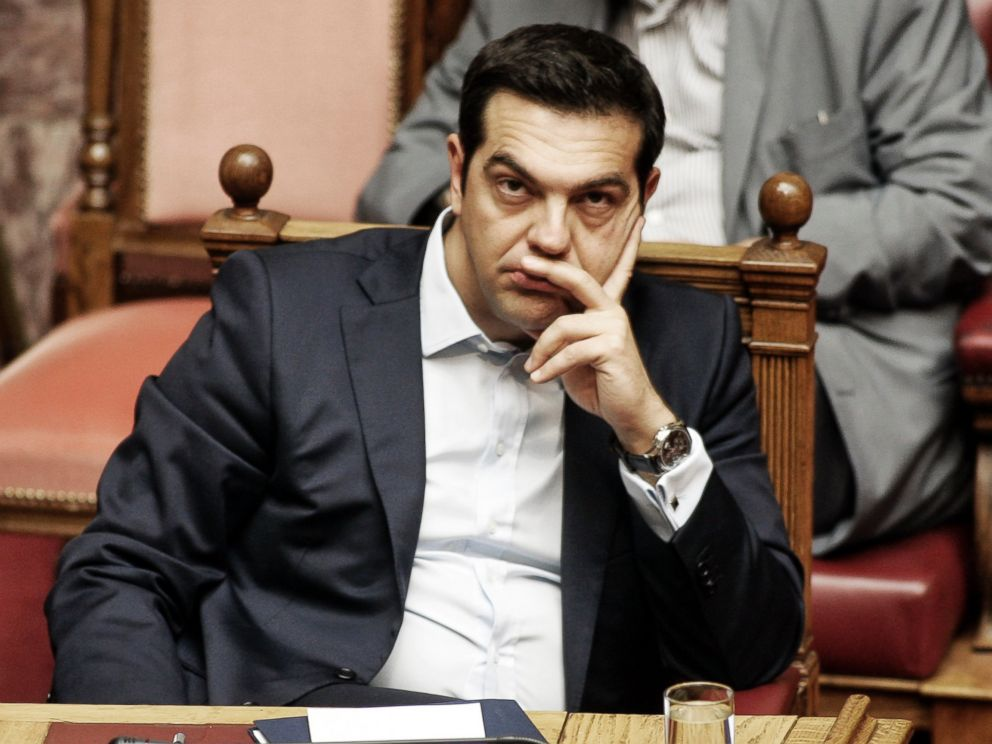 PHOTO: Greek Prime Minister Alexis Tsipras is pictured during a parliamentary session in Athens, Greece on June 28, 2015.