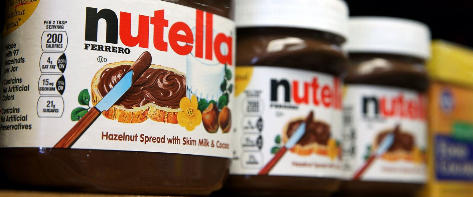 PHOTO: Jars of Nutella are displayed on a shelf at a market, Aug. 18, 2014, in San Francisco.
