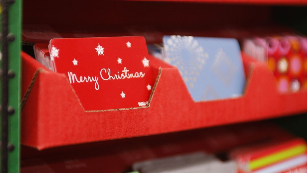 PHOTO: Gift cards are on display at a Wal-Mart store in Panorama City, Calif., Nov. 23, 2007.