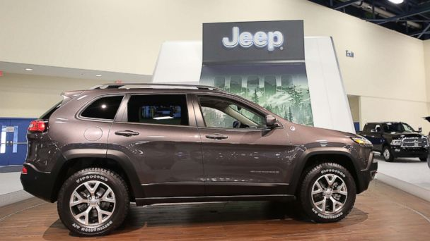 PHOTO: A view of a 2014 Jeep Cherokee at Miami International Auto Show at the Miami Beach Convention Center in this Nov. 9, 2013, file photo.