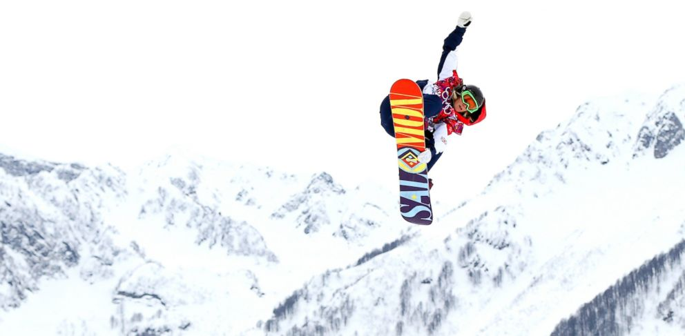 PHOTO: Jenny Jones of Great Britain competes in the womens snowboard slopestyle finals during day two of the Sochi 2014 Winter Olympics at Rosa Khutor Extreme Park, Feb. 9, 2014, in Sochi, Russia.