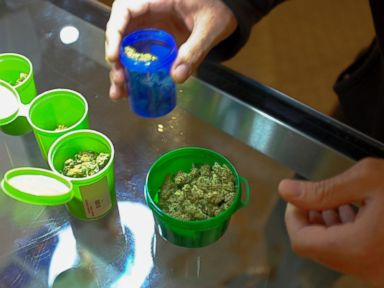 PHOTO:A customer shops for recreational marijuana inside the Evergreen Apothecary in Denver, Colorado in this Jan. 9, 2014, file photo.
