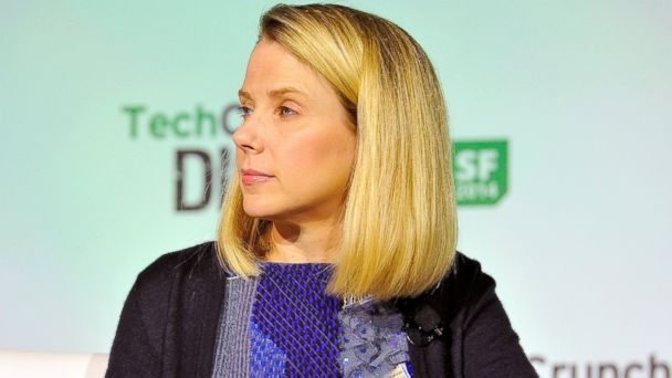 PHOTO: Yahoo! President and CEO Marissa Mayer judges onstage the Startup Battlefield Finals at TechCrunch Disrupt at Pier 48, Sept. 10, 2014, in San Francisco.