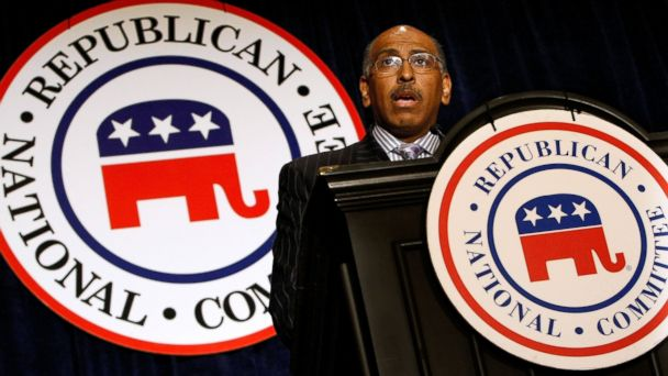 PHOTO: Embattled Republican National Committee Chairman Michael Steele addresses a meeting of state party chairmen May 20, 2009 in Baltimore, Md.