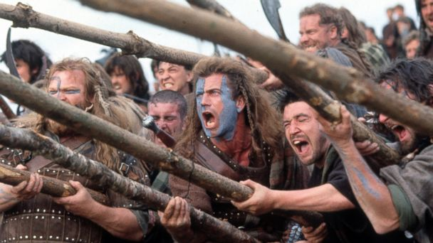 PHOTO: Mel Gibson in a scene from the film Braveheart, 1995.