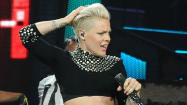 PHOTO: P!nk performs on stage at the Honda Center, Jan. 29, 2014, in Anaheim, Calif.
