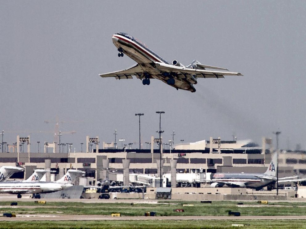 PHOTO: This Sept. 17, 2001, file photo shows an American Airlines jet taking off from Dallas/Ft. Worth International Airport in Dallas, Texas.