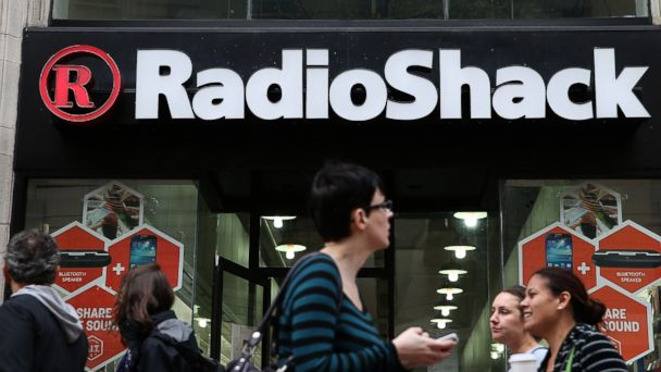 PHOTO: In this file photo, people walk by a RadioShack store on March 4, 2014 in San Francisco, Calif.
