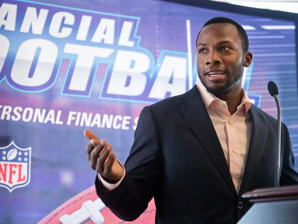 PHOTO: Detroit Lions wide receiver Ryan Broyles speaks during an event at 101 Constitution Avenue in Washington, March 18, 2015.