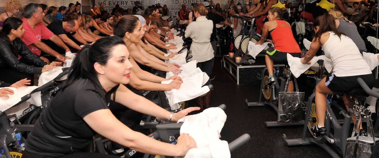 "PHOTO: SoulCycles ""Ride With Soul"" Best Buddies benefit at SoulCycle, Upper East Side, Jan. 14, 2013, in New York City."