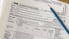 PHOTO: In this stock image, tax