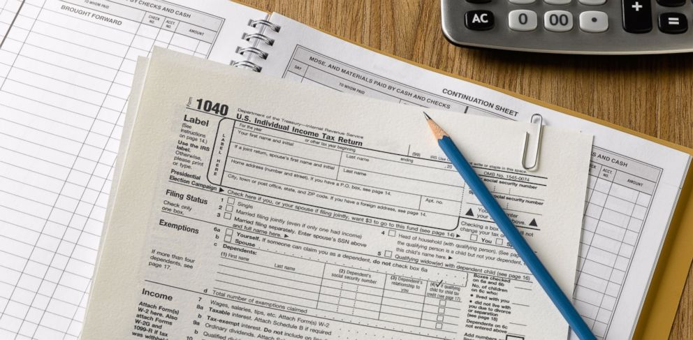 PHOTO: In this stock image, tax forms are pictured.