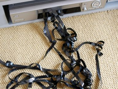 PHOTO: A video tape stuck in a video player is pictured in this undated stock photo.