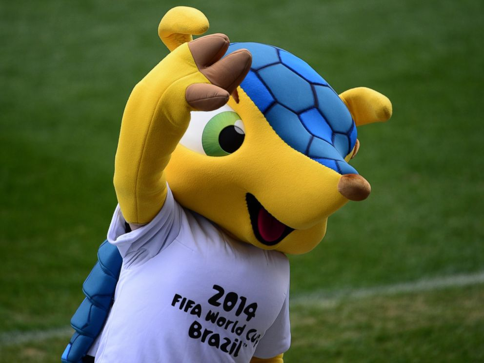 PHOTO: Fuleco the Armadillo, the official mascot of the 2014 FIFA World Cup Brazil
