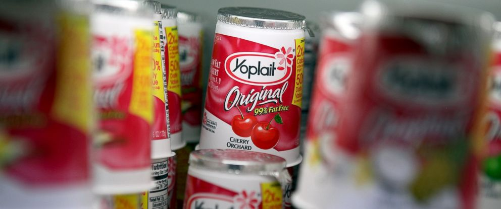 PHOTO: Containers of Yoplait yogurt sit on the shelf, March 18, 2011, in San Rafael, Calif.