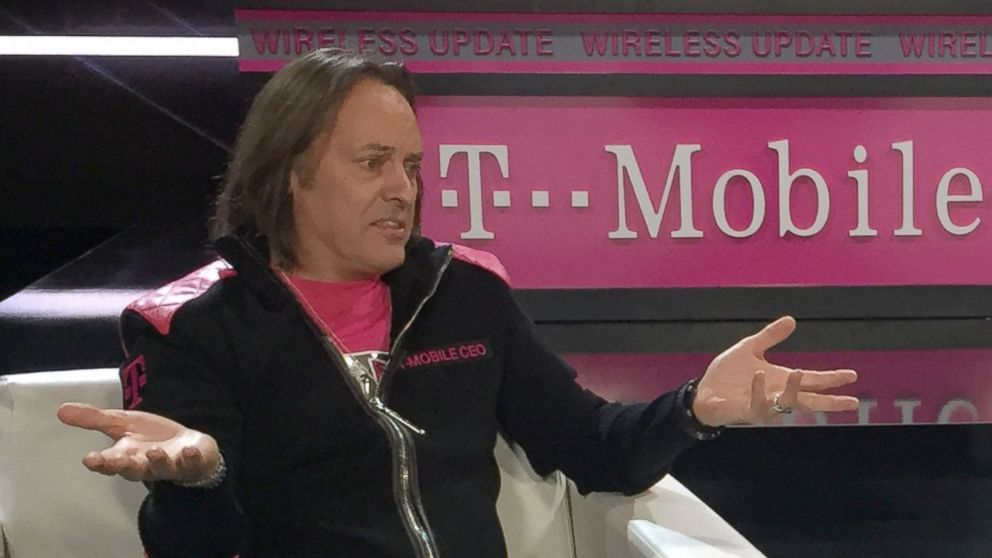 PHOTO: T-Mobile CEO, John Legere joins Rebecca Jarvis at CES 2017 in Las Vegas for an episode of