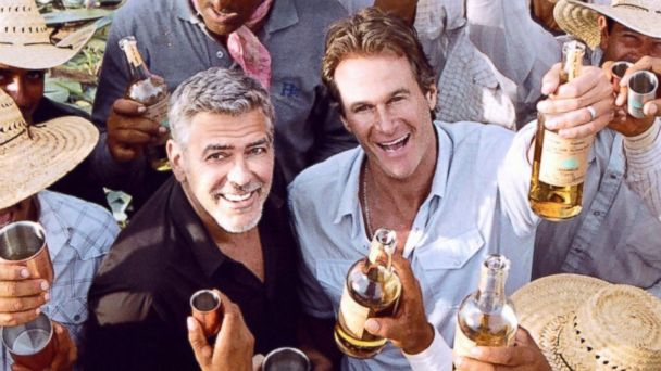 PHOTO: A promo image of George Clooney and business partner Rande Gerber for their tequila company Casamigos.
