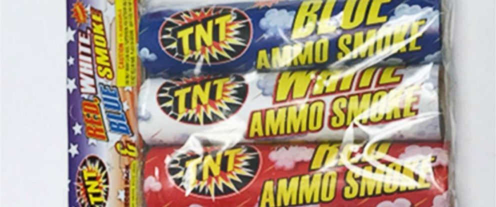 PHOTO: American Promotional Events has announced a recall of Red, White & Blue Smoke Fireworks.
