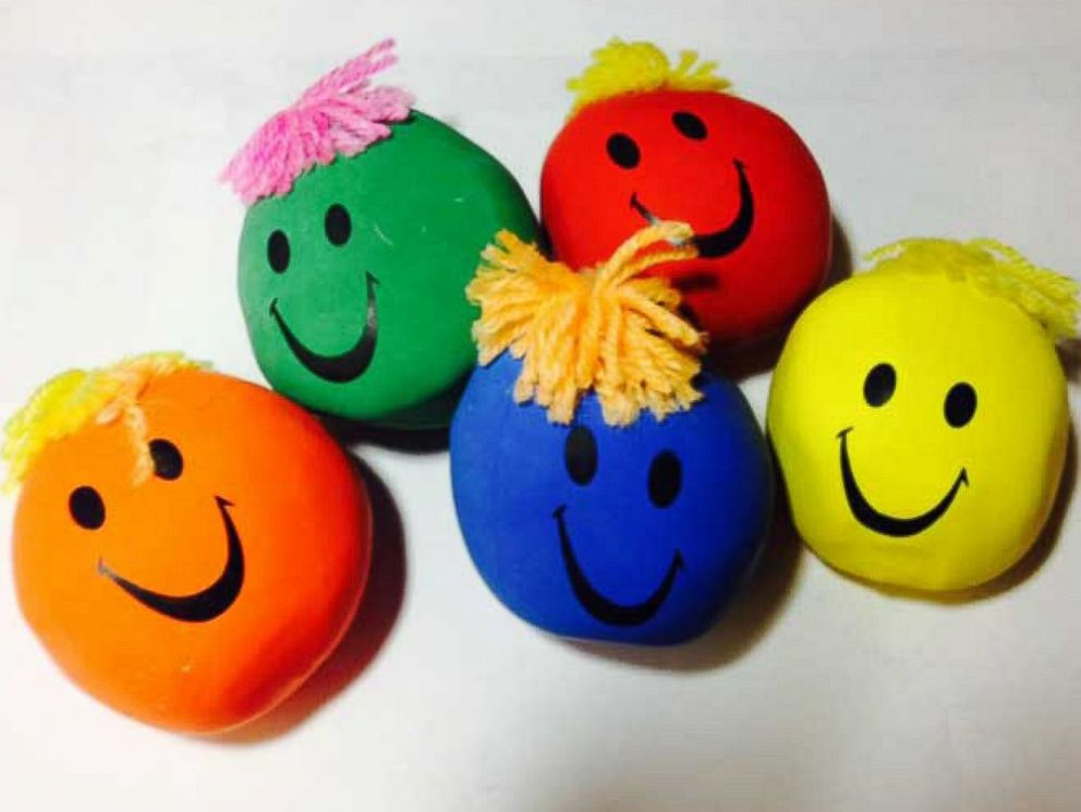 PHOTO: Gift Gallery Moody Face stress balls.
