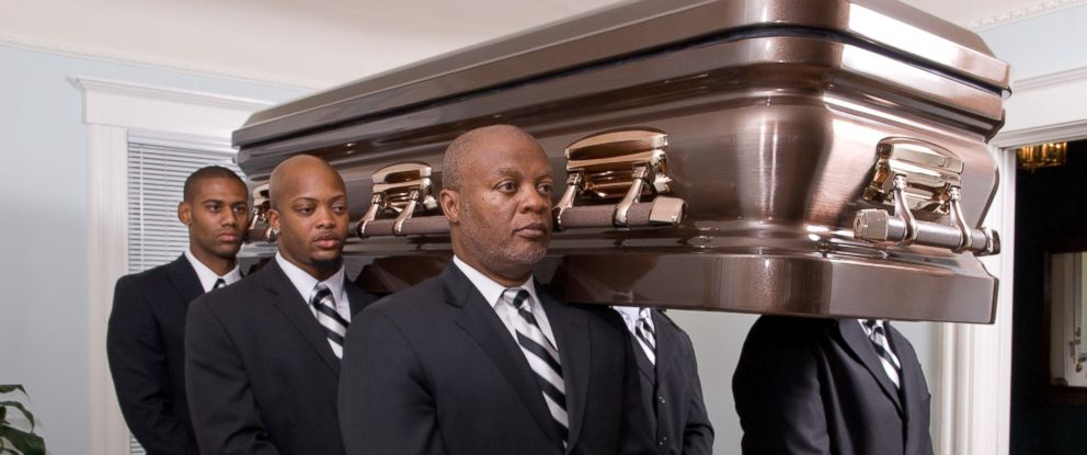"PHOTO: The John B. Houston Funeral Home offers its ""White Glove"" Professional Pallbearers services to families."