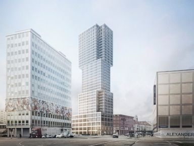 PHOTO: This rendering shows the Alexander A. Tower in Berlin.