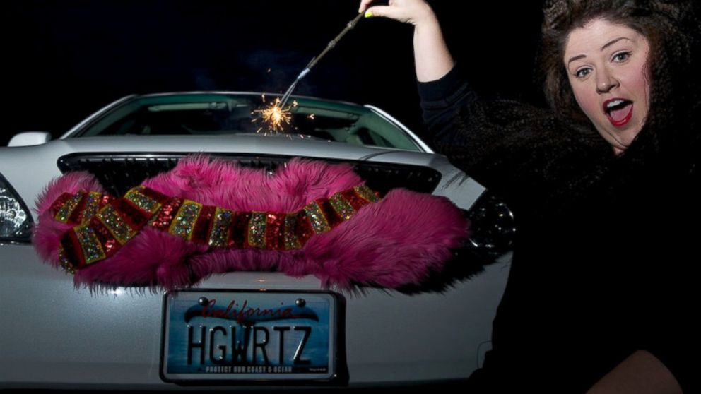 "PHOTO: Amanda Schrader delights Lyft riders with her ""Harry Potter"" car, which include a Honeydukes candy shop, wizard wands and more magic."
