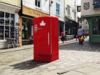 PHOTO: A Molson beer fridge, part of a new marketing campaign.