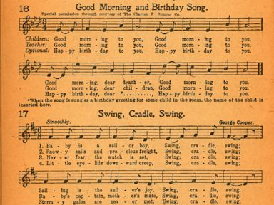 PHOTO: The plaintiffs lawyers claim this songbook shows that the publisher authorized the publication of the lyrics to Happy Birthday to You in 1921 or 1922
