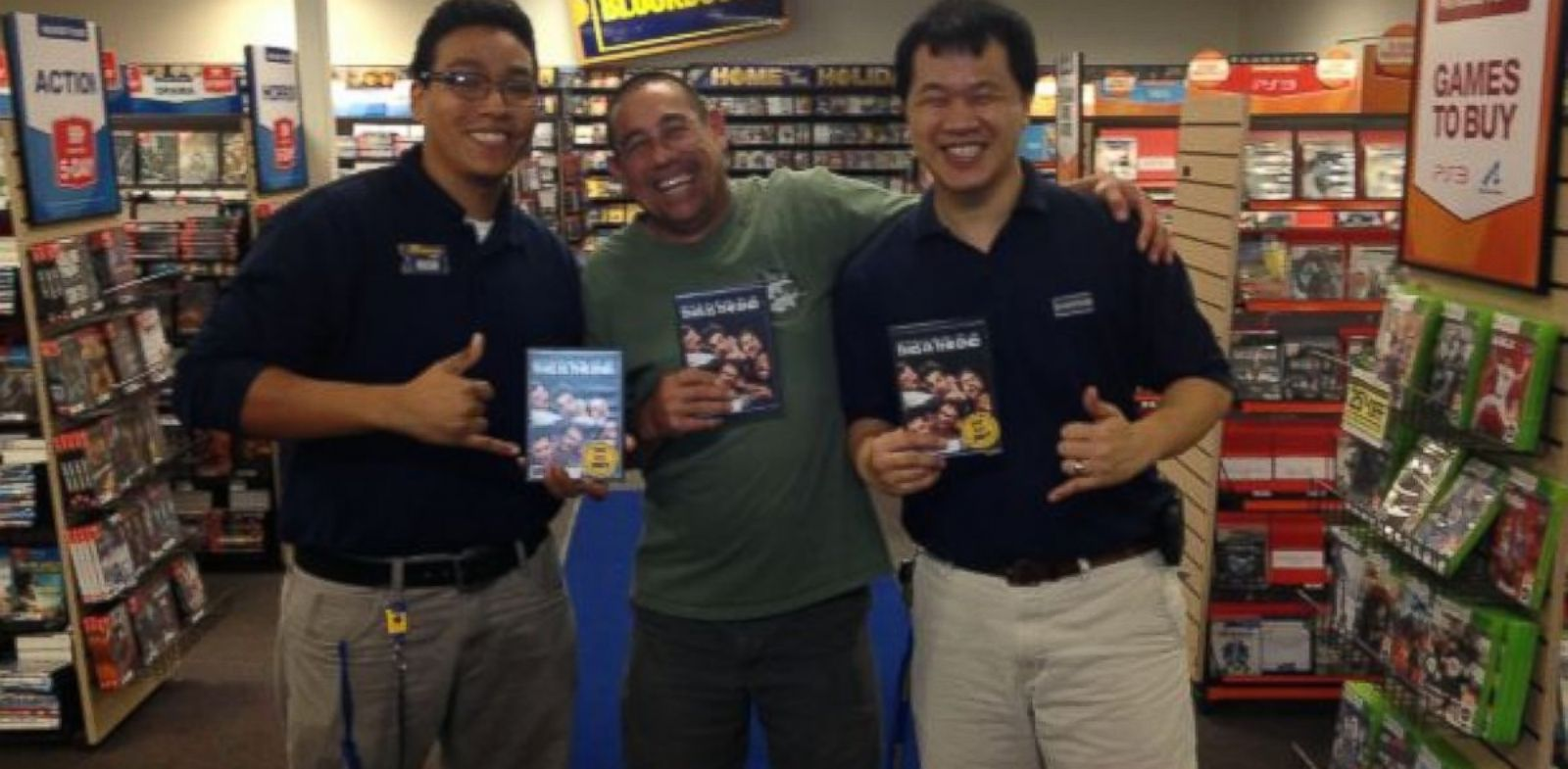 "PHOTO: The last Blockbuster rental was the film ""This is the End."""