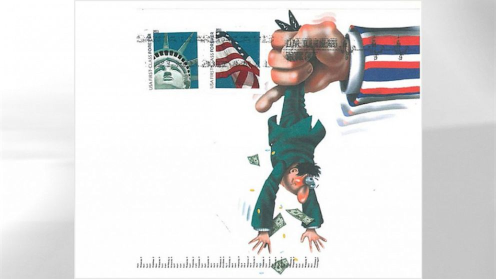 PHOTO: debt collectors cartoon envelope