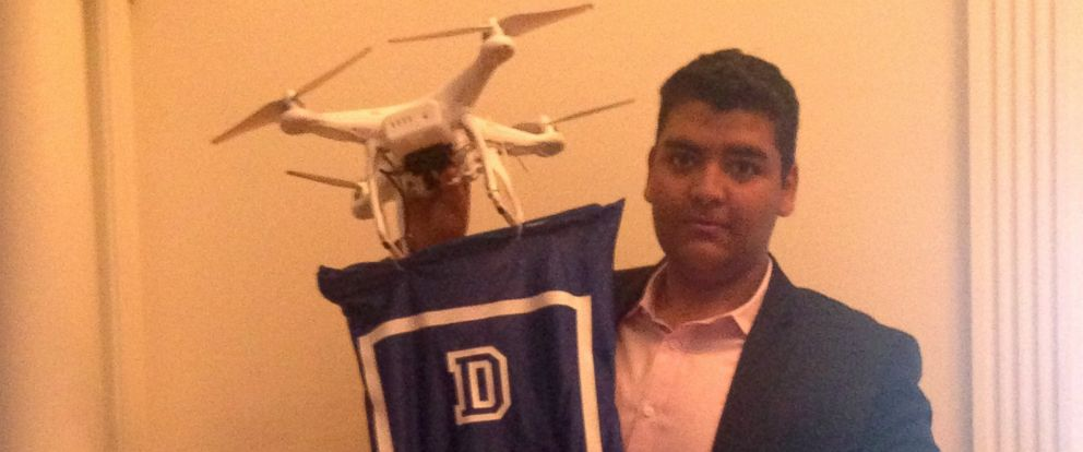 PHOTO: GauravJit Singh, the 19-year-old founder and CEO of DroneCast.