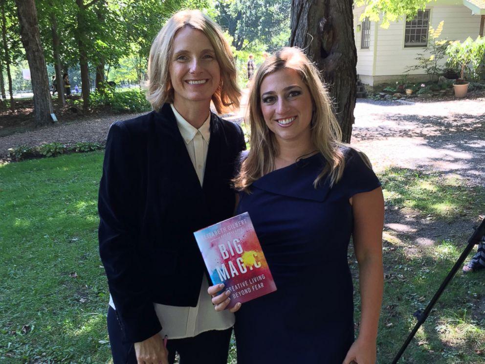 PHOTO: Elizabeth Gilbert at Omega Institute with Nicole Sawyer.