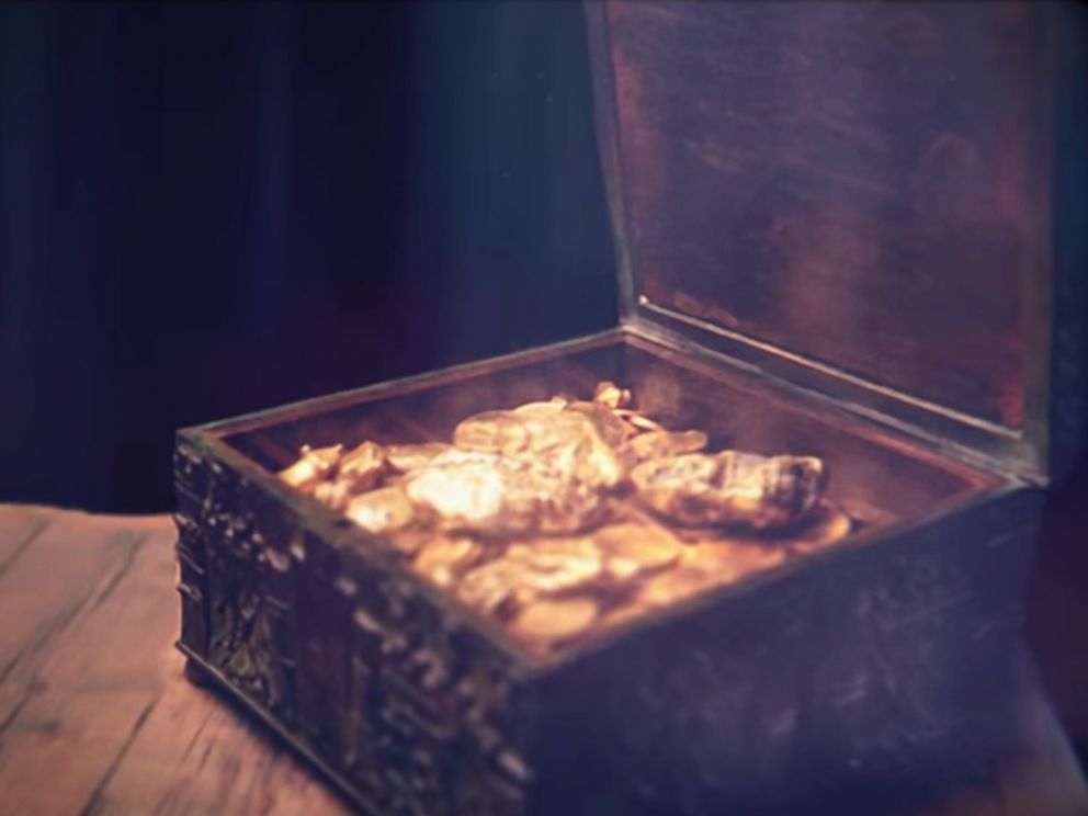PHOTO: Forrest Fenn hid a chest of treasure, similar to the one pictured in this video