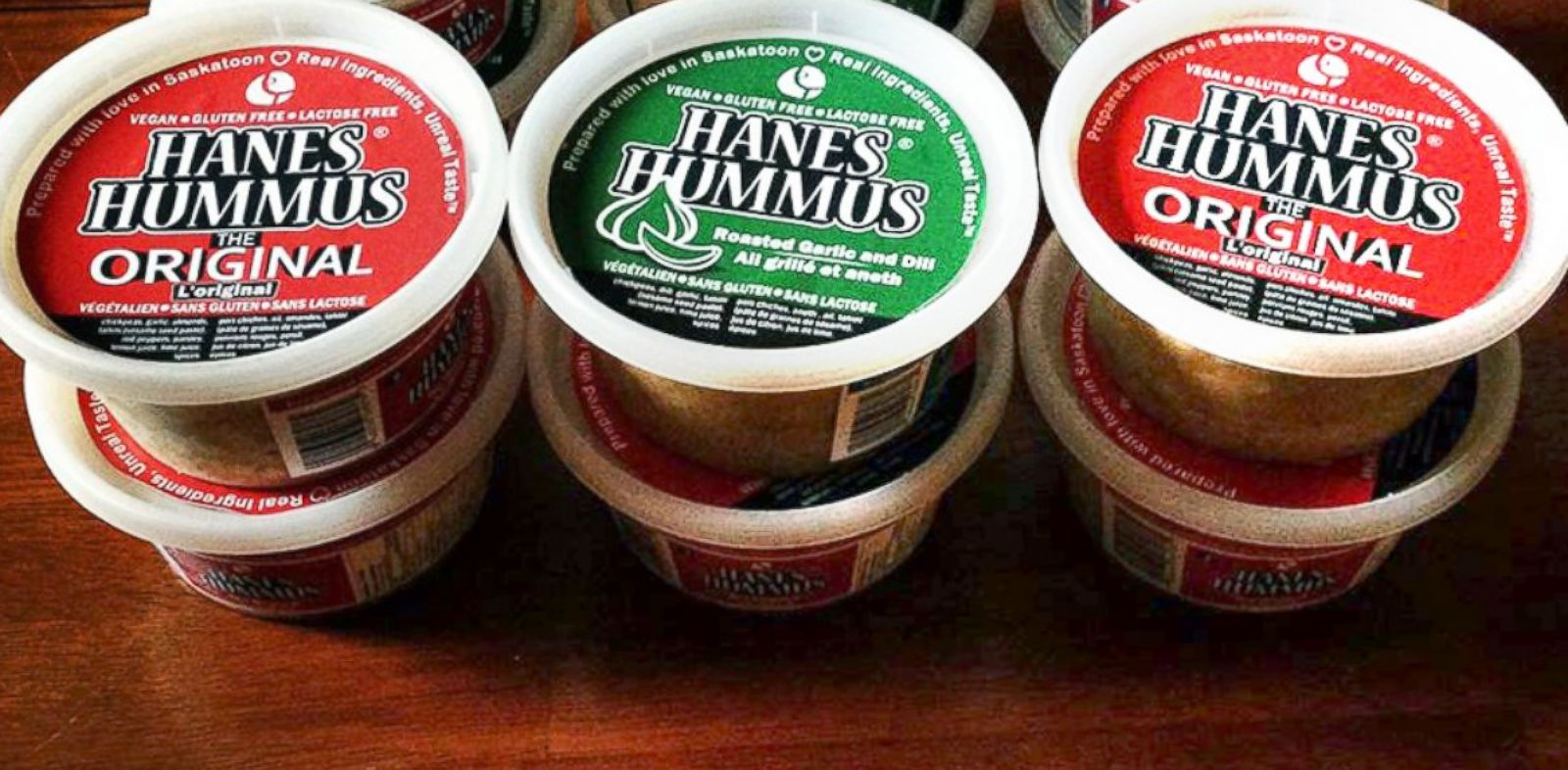 PHOTO: The Canadian food product, Hanes Hummus, has irked Hanesbrands Ind., the American underwear company.