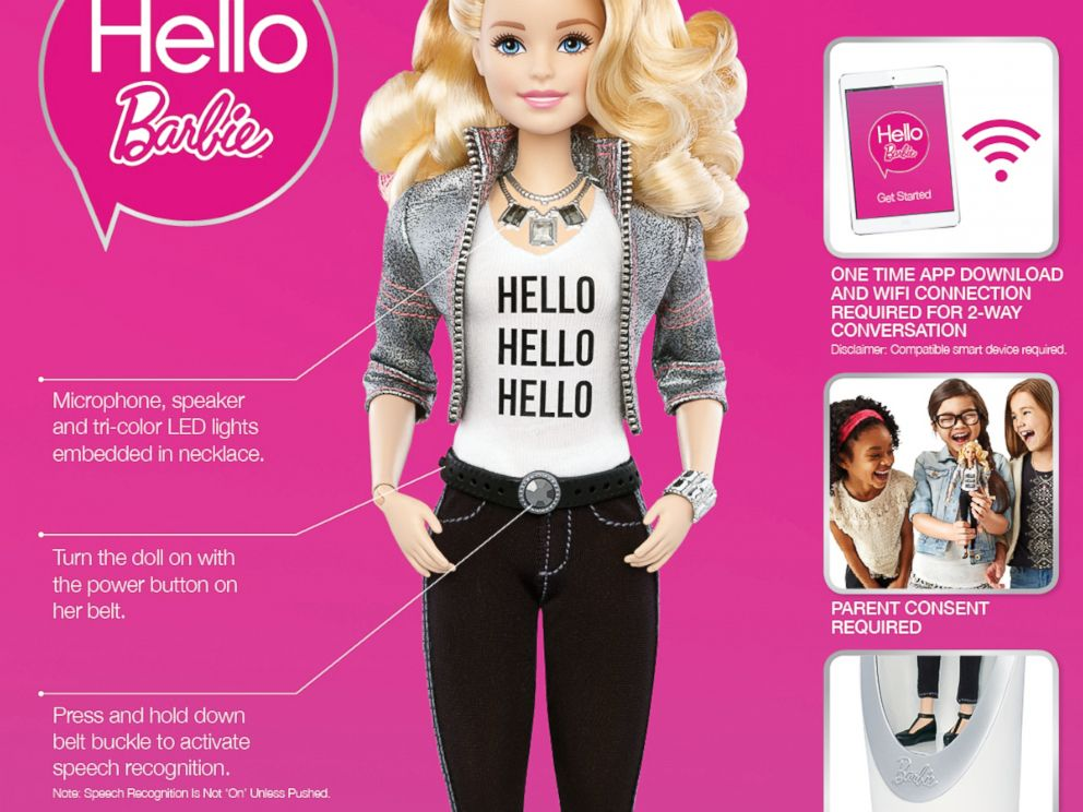 PHOTO:Hello Barbie uses Wi-Fi–connection and speech-recognition technology to have conversations with kids.