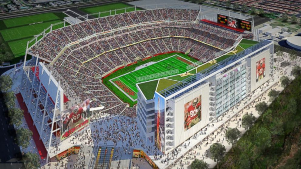 PHOTO: A rendering of Levis Statium in Santa Clara, Calif., currently under construction.