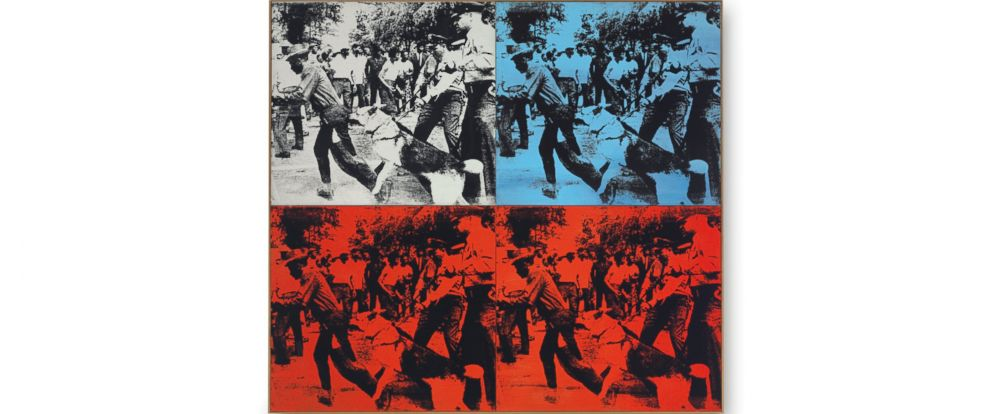 "PHOTO: ""Race Riot"" by Andy Warhol sold for $62,885,000."
