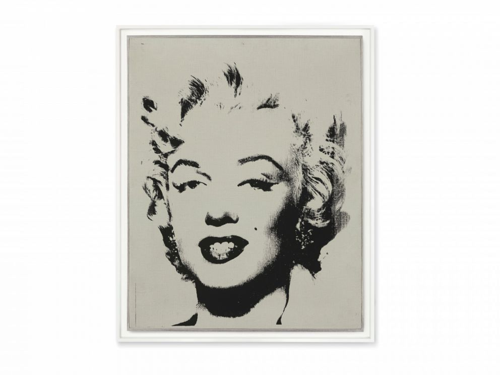 PHOTO: White Marilyn by Andy Warhol sold for $41,045,000.