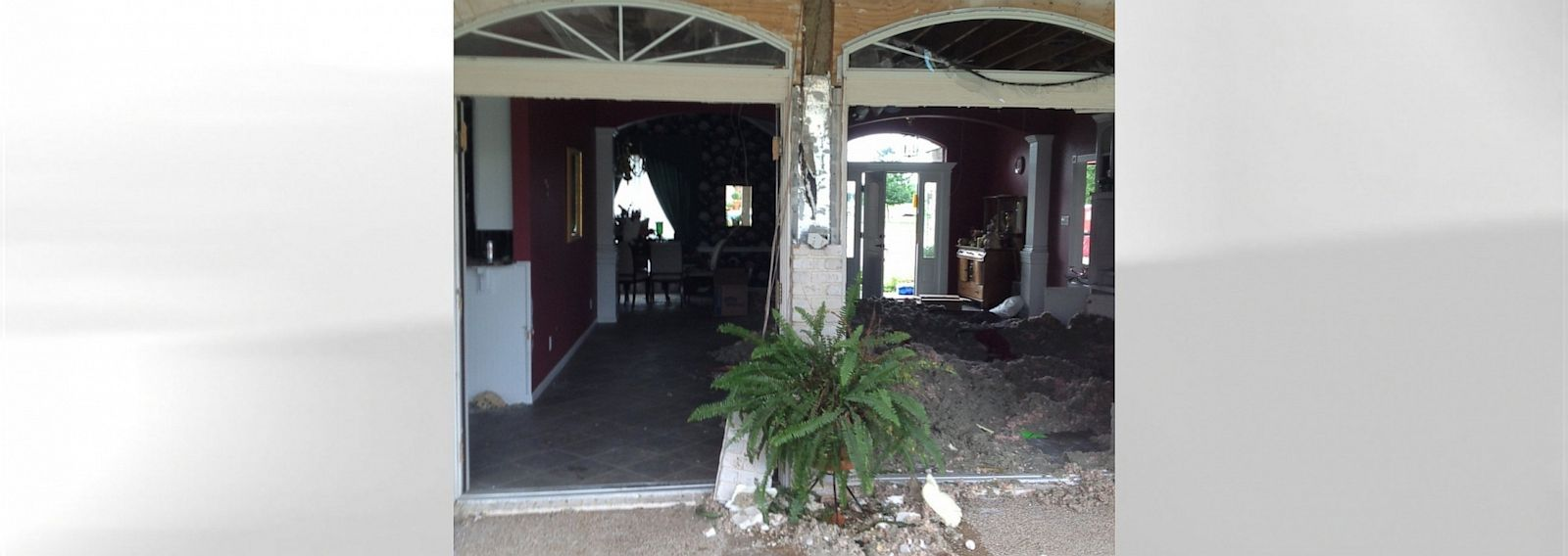PHOTO: The home of Tommy Muska, mayor of West, Texas, including his back French doors, pictured, were damaged by the blast from a fertilizer plant on April 17, 2013.