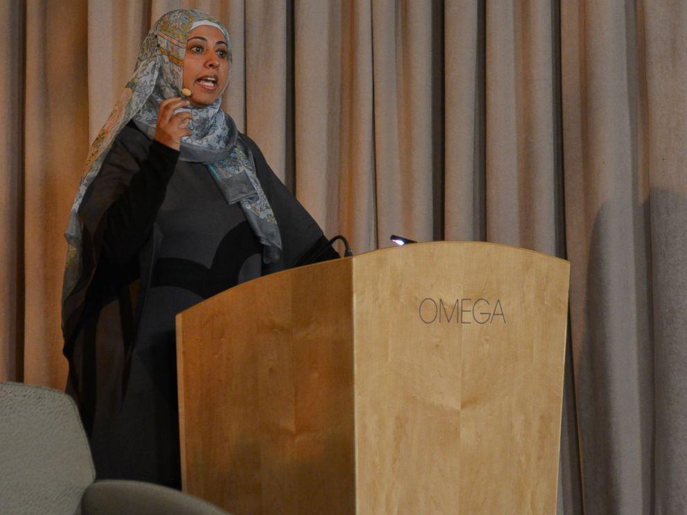 PHOTO: Nadia Al-Sakkaf speaks at Omega Institute.