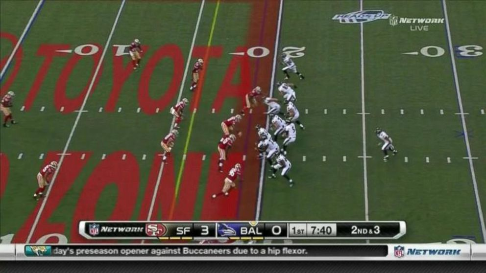 PHOTO: The NFLs new on-field advertising is seen in this screengrab.