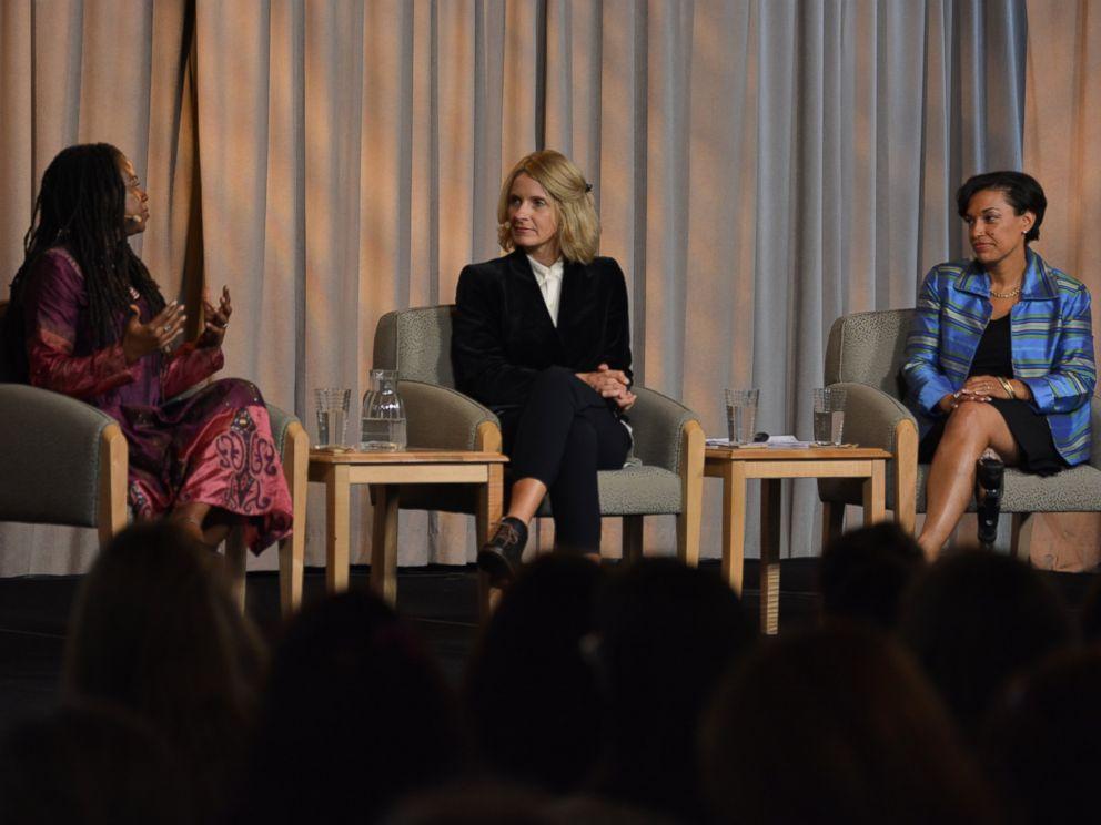 PHOTO: Bonnie St. John, Elizabeth Gilbert, and Jamia Wilson at Being Bold Women & Power Retreat.